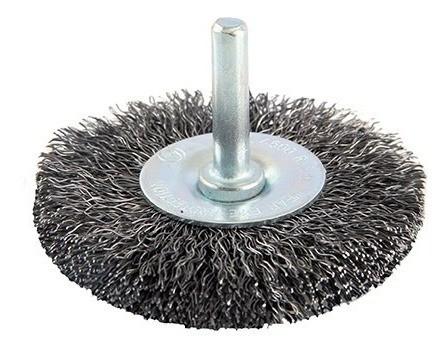 Escova De Aco Com Haste Circular 75 Mm Brasfort - 7249