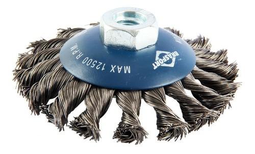 Escova De Aço Côncava Brasfort 7254 Trançada 4 X 1/2 X M1