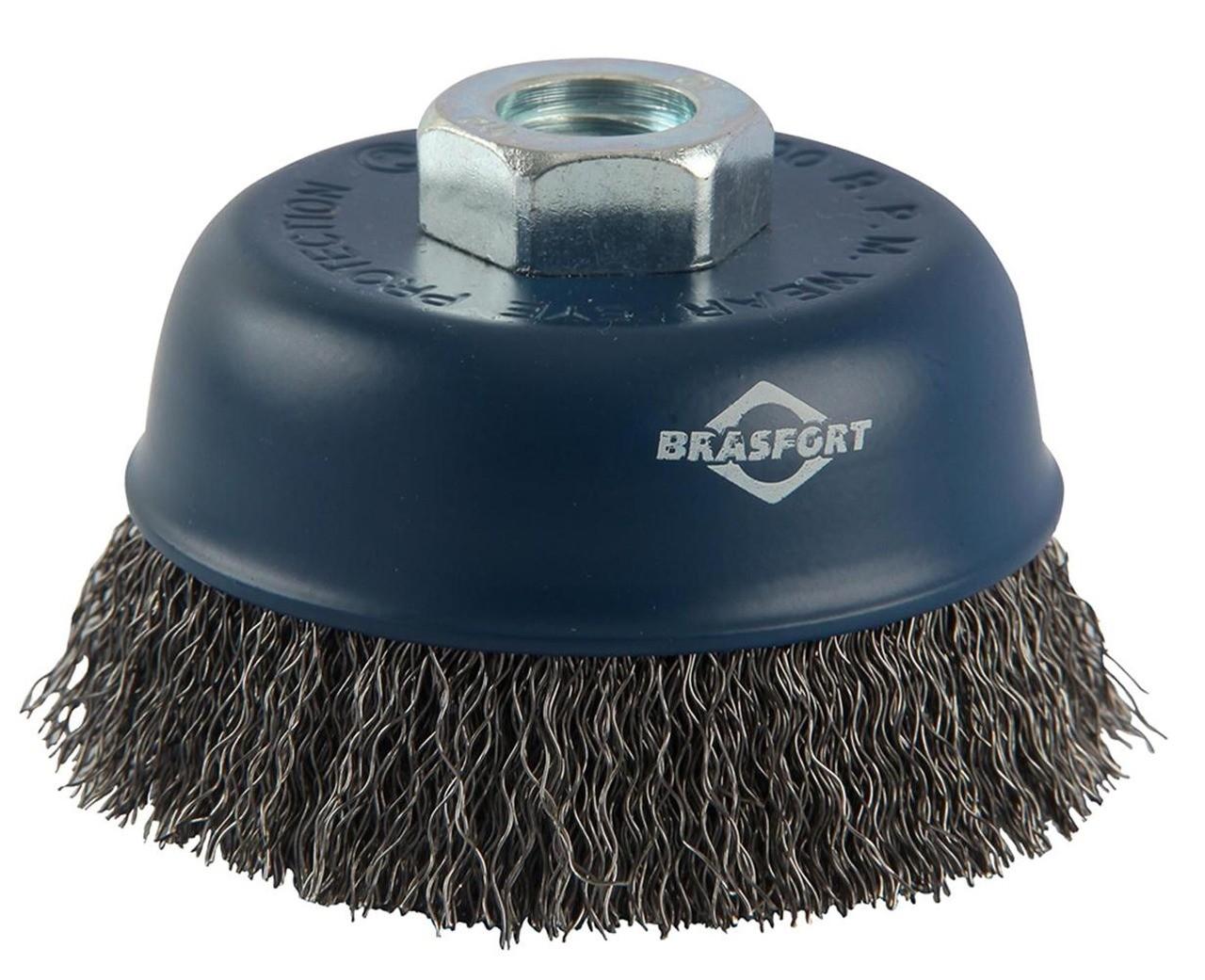 Escova de aço copo ondulada 125xM14 7260 Brasfort