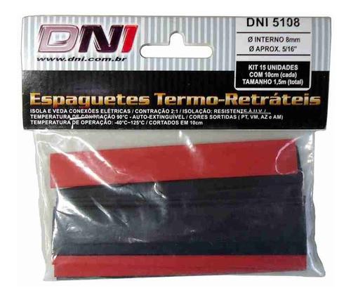 Espaguete Termo Retrátil 8mm - Dni 5108 C/15pcs