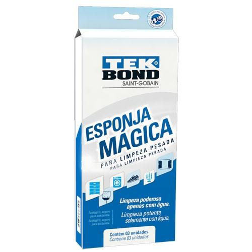 Esponja Magica Limpeza Pesada Tek Bond Com 03unid
