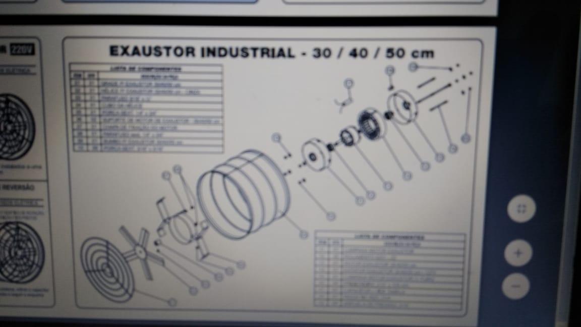Exaustor Industrial 50CM 220V - Venti Delta