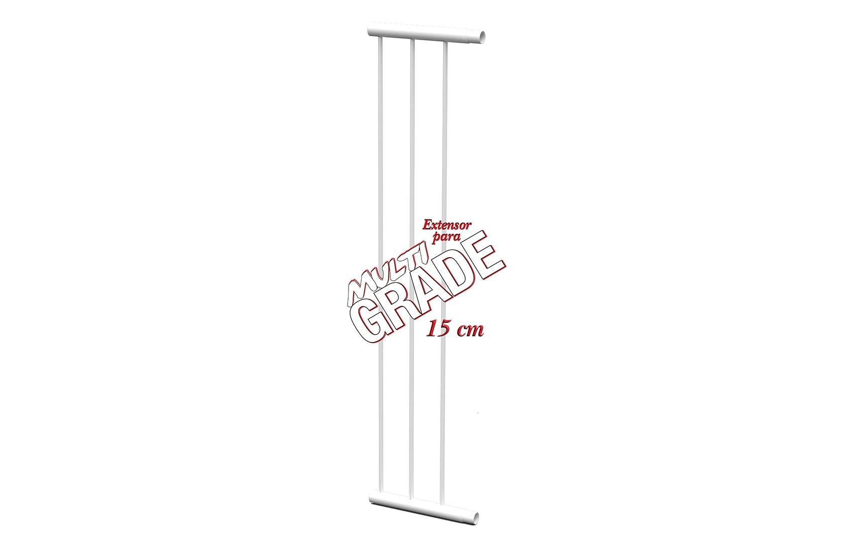 Extensor 15 Cm Para Portão Grade De Segurança Branco Mf1015