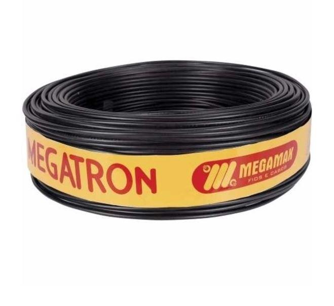 Fio Cabinho Flexível 2,5mm 100m Preto Megatron