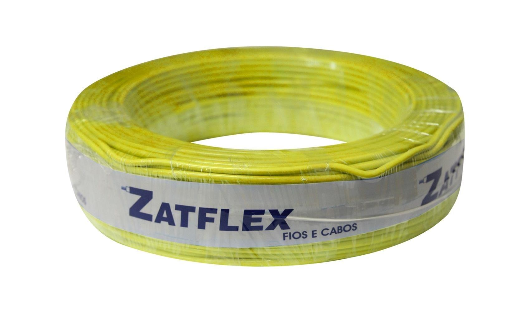 Fio Cabinho Flexível 2,5mm 100m Amarelo Zatflex