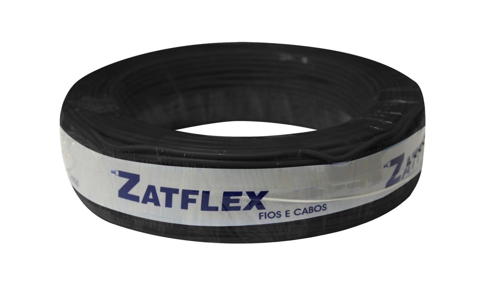 Fio Cabinho Flexível 2,5mm 100m Preto Zatflex