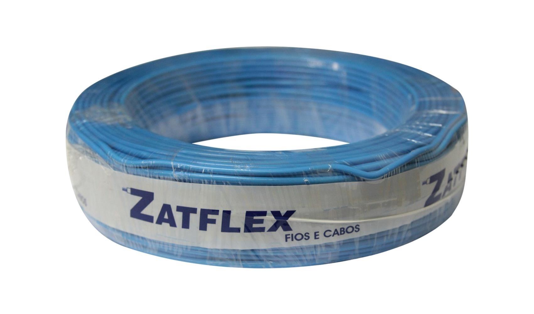 Fio Cabinho Flexível 4mm 100m Azul Zatflex