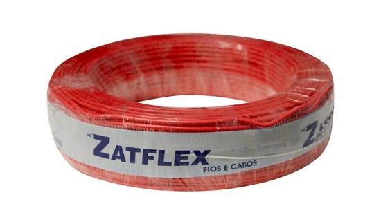 Fio Cabinho Flexível 4mm 100m Vermelho Zatflex