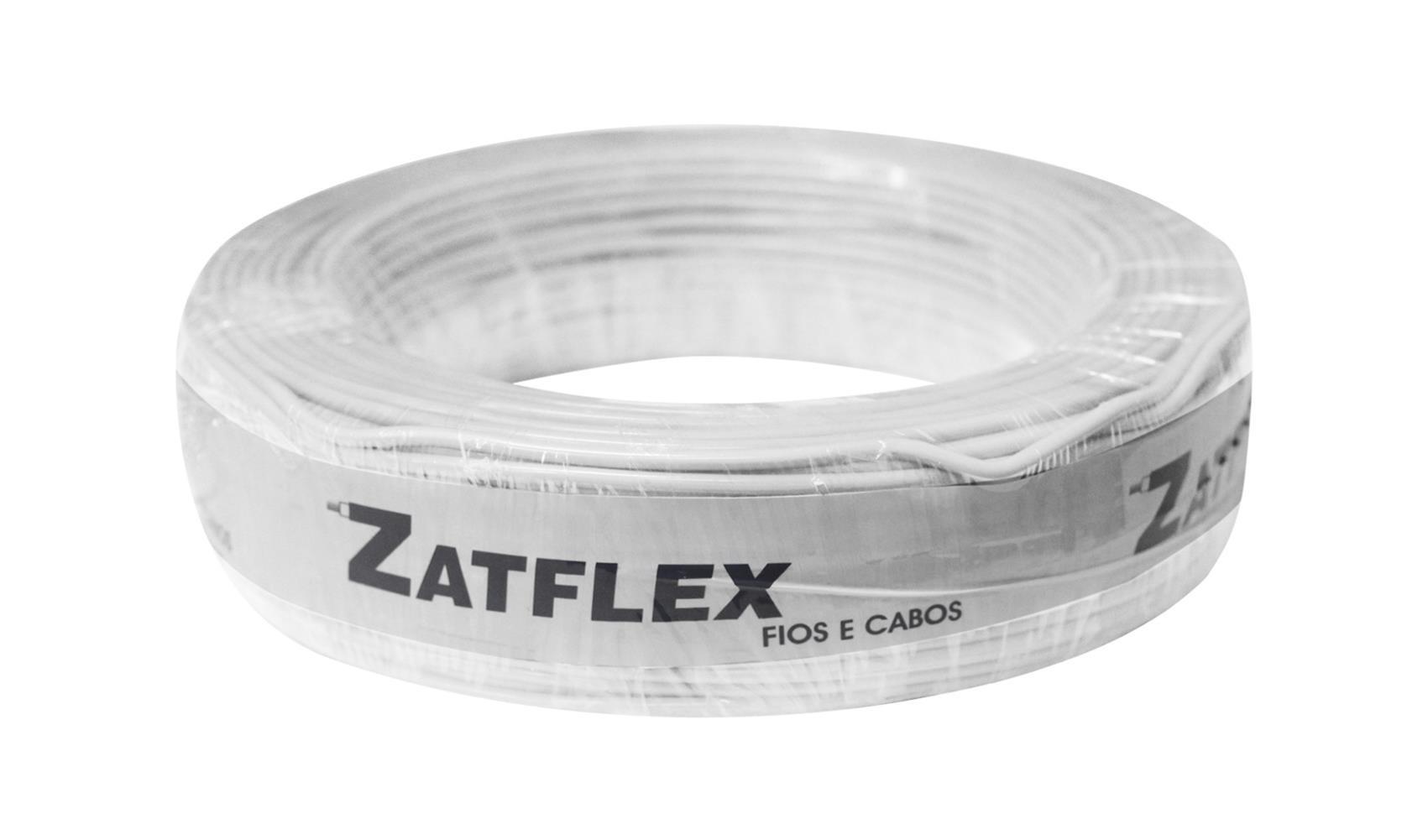 Fio Cabinho Flexível 6mm 100m Branco Zatflex