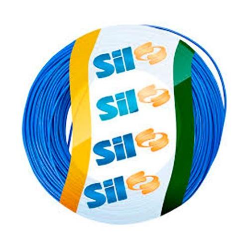 Fio Solido Sil 10,0mm Azul 100 Metros