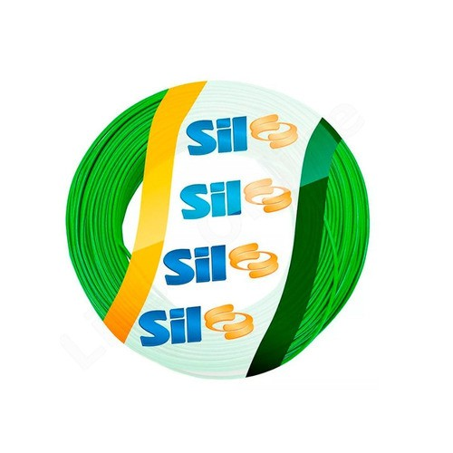 Fio Solido Sil 10,0mm Verde 100 Metros