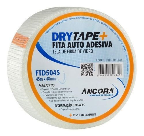 Fita P/drywall Telada Fibra De Vidro Ancora 48mmx45mts