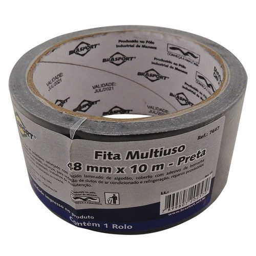 Fita Silver Tape Brasfort 48x10m Preto