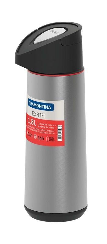 Garrafa Térmica Tramontina Em Aço Inox Com Ampola De Vidro 1,8 L