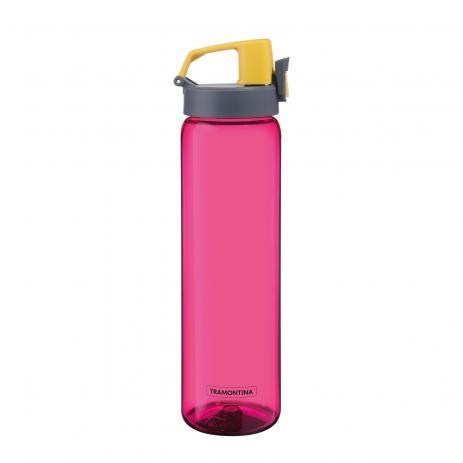 Garrafa Tramontina Rosa Em Tritan Com Parede Simples 0,9 L
