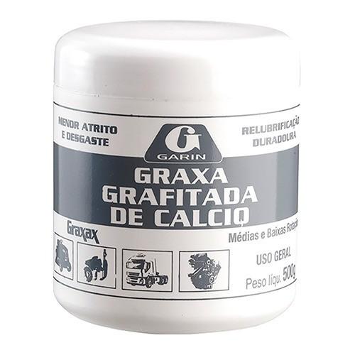 Graxa De Calcio Grafitada 500gr Garin