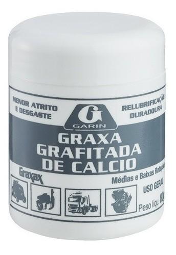 Graxa De Cálcio Grafitada Lubrificação 80g Garin