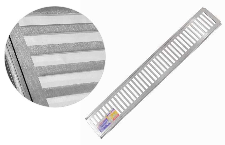Grelha P/ Ralo + Caxilho Alumínio 15x100