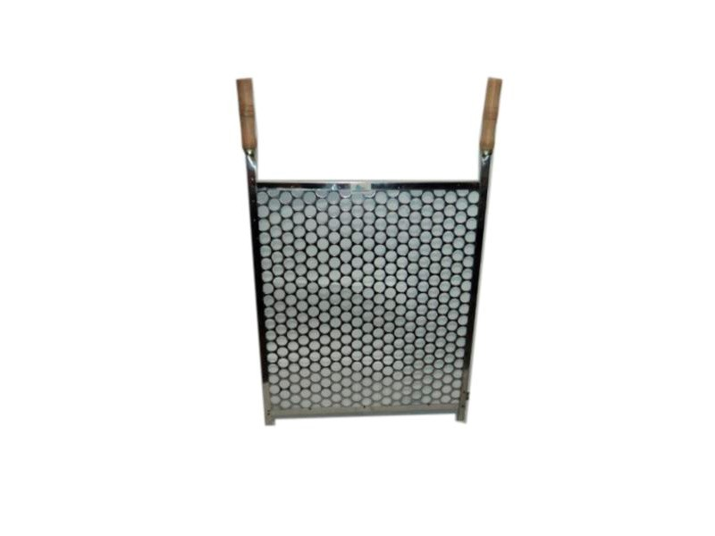 Grelha para churrasqueira com cabo Inox 30X50 - Riskgas
