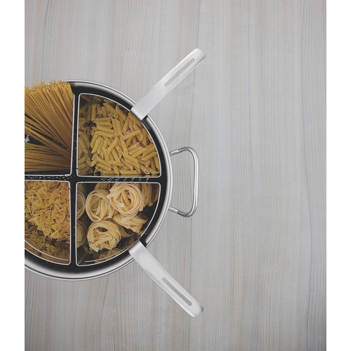 Jogo Cozi-pasta Aço Inox Ø 30cm
