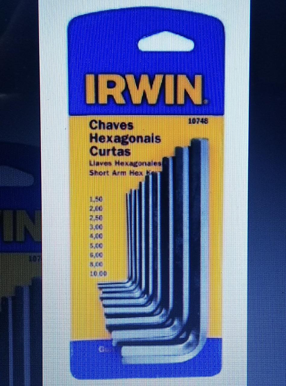 Jogo De Chave Hexagonal Allen 1,5 A 10 Mm 10748 Irwin