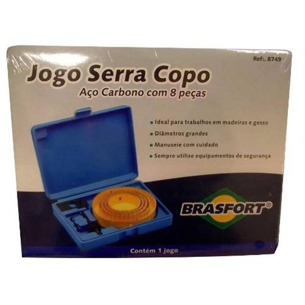 Jogo Serra Copo C/ 8 Peças + Estojo Profissional