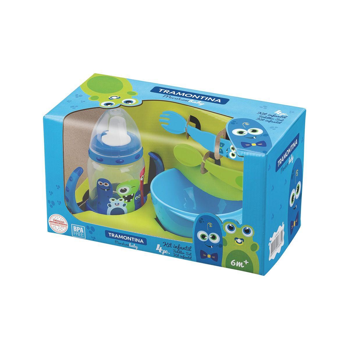 Kit 4 Peças Monster Baby
