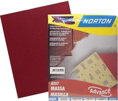 Kit C/ 50 Lixa Massa A257 Grão 150 Norton