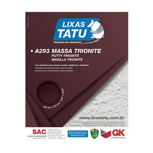 Kit C/ 50 Lixa Massa A293 Grão 100 Tatu