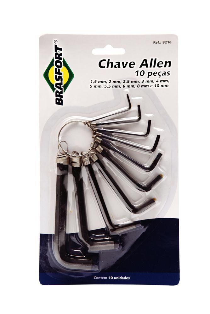 Kit Chave Allen Brasfort 1,5 a 10mm 10pc