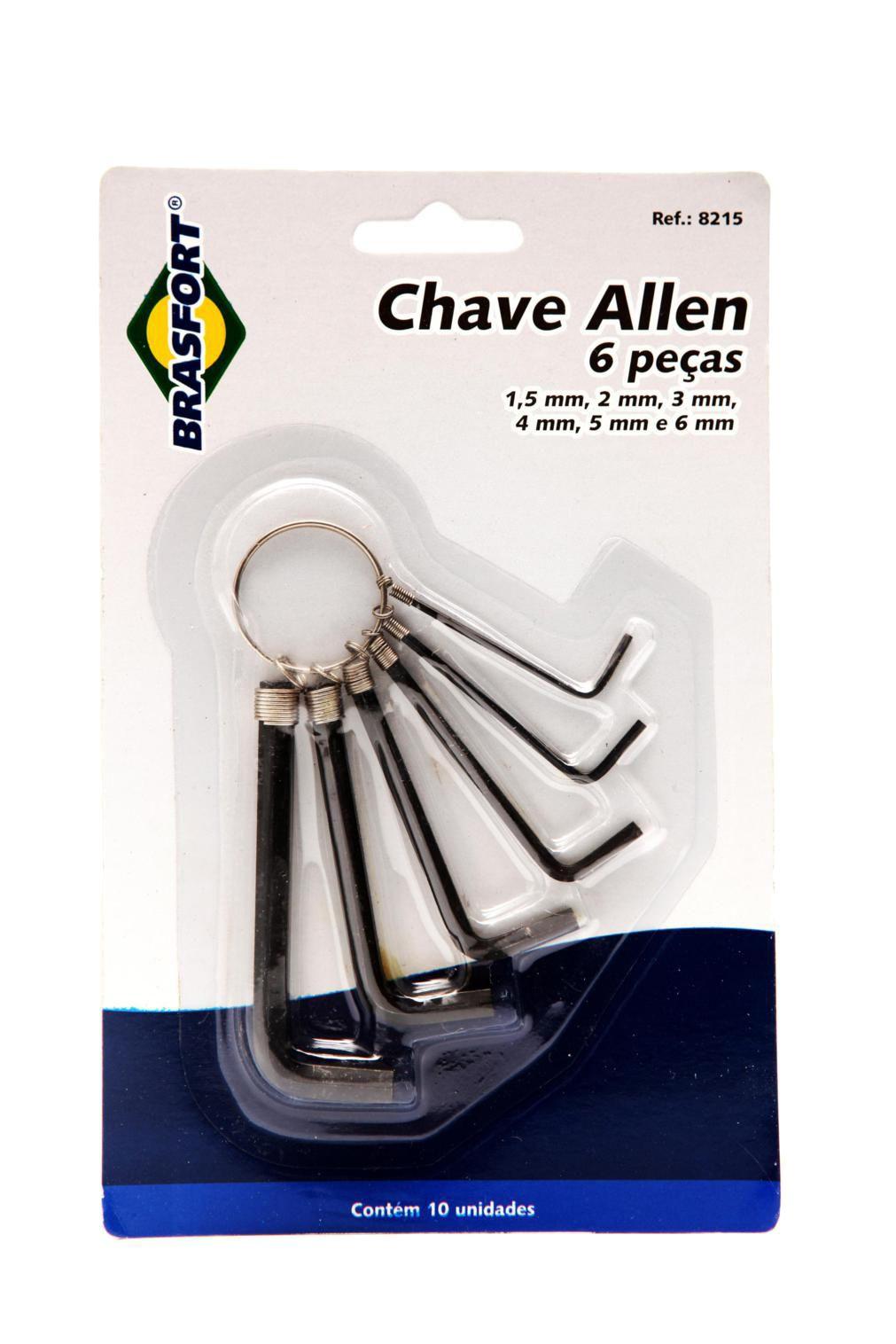 Kit Chave Allen Brasfort 1,5 a 6mm 6pc