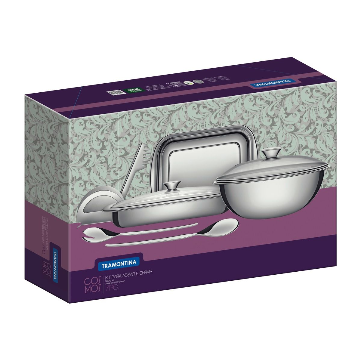 Kit Cozinha Aço Inox 7 Pç.