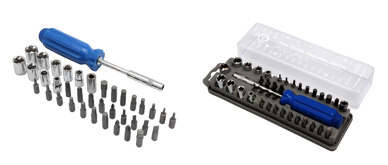 Kit De Chaves Multiuso Brasfort 39x1 Fenda Philips E Soquete