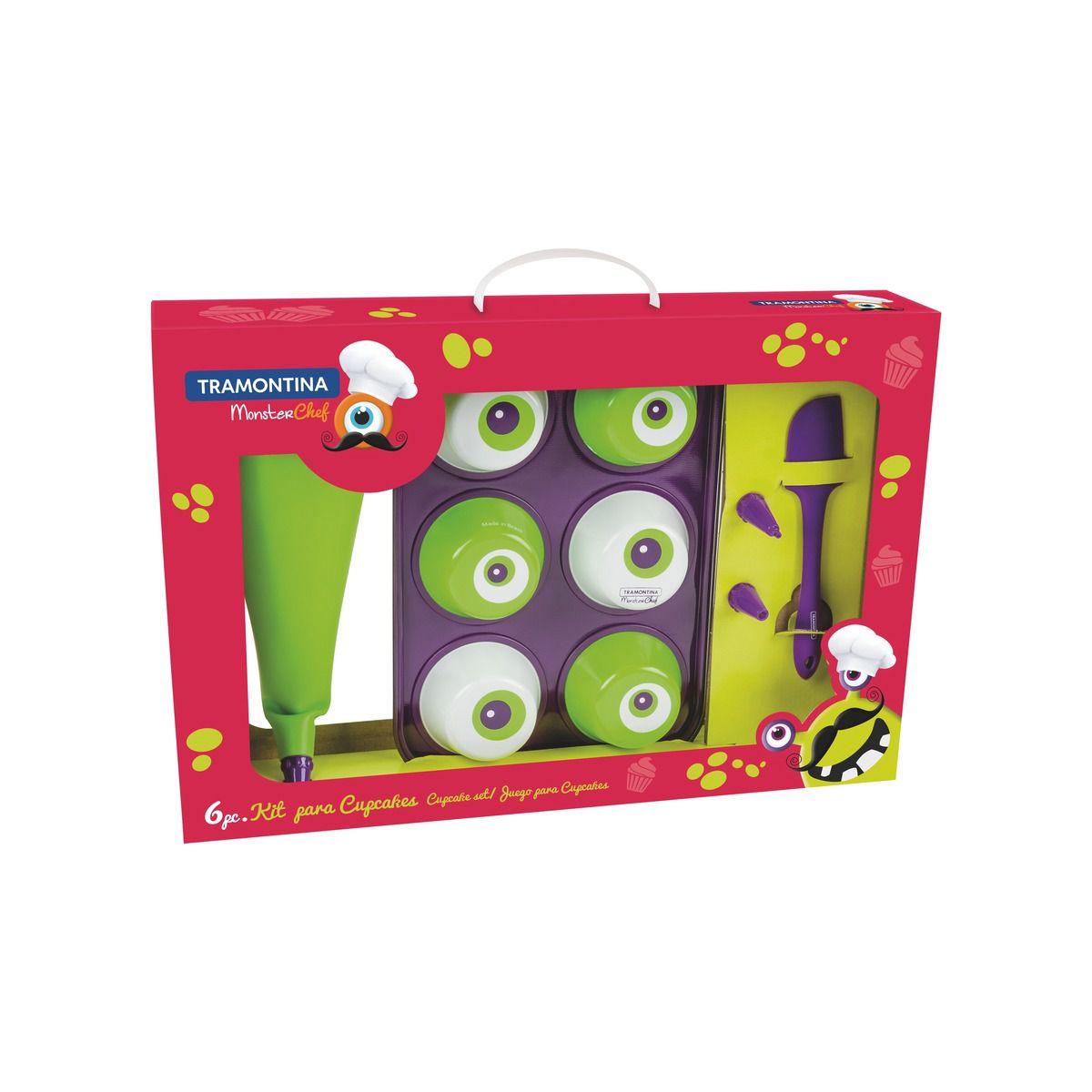 Kit Para Cupcake 6 Peças Monster Kids