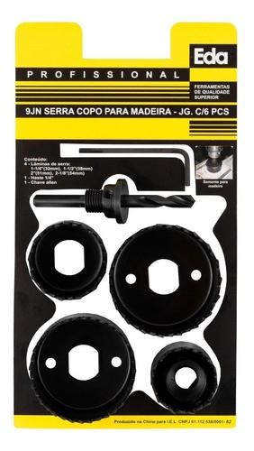 Kit Serra Copo Madeira 6 Peças Eda - 9jn