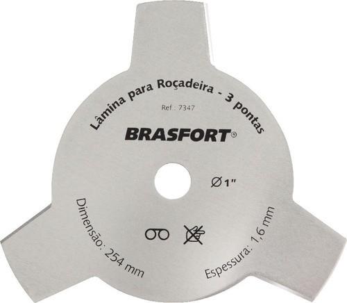 Lâmina Para Roçadeira 3 Pontas 3/4 - Brasfort