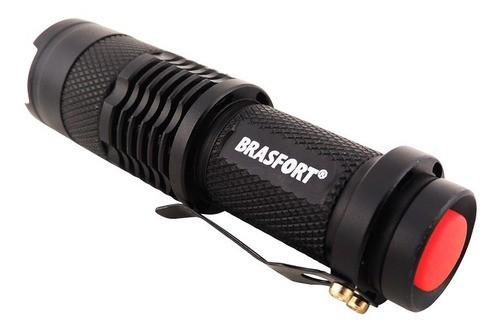 Lanterna Led Mini Alumínio À Pilha Aa Brasfort Ref.: 7866
