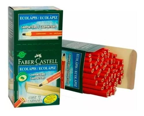Lápis Para Carpinteiro 6mm Faber Castell 72 Unidades