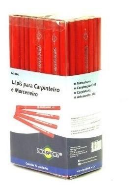 Lápis Para Carpinteiro E Marceneiro Brasfort Com 72 Peças