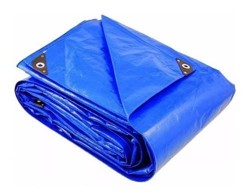 Lona Azul Fina Encerado De Polietileno 8mx7m Brasfort