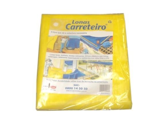 Lona Carreteiro Amarela Encerado Reforcada 4 X 4 Mt
