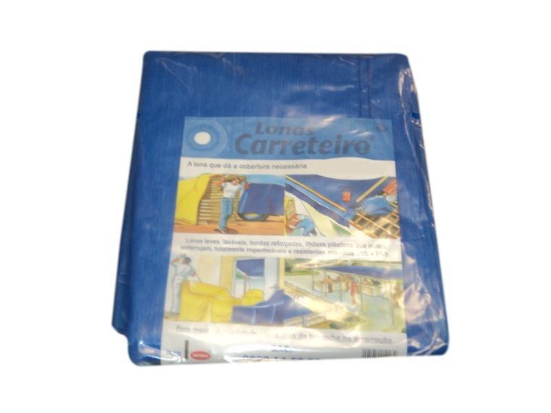 Lona Carreteiro Azul Encerado Reforcada 6 X 4 Mt