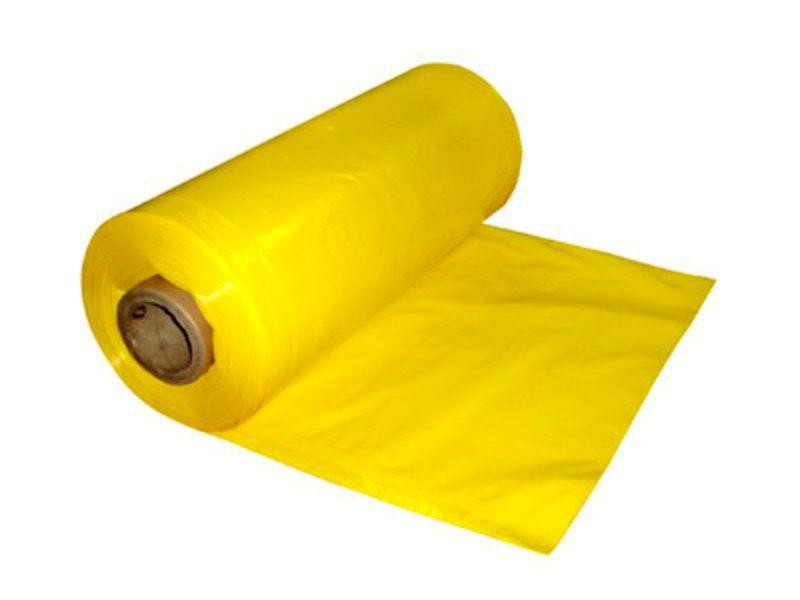 Lona Plástica Amarela 4x100 metros