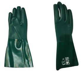 Luva Pvc Forrada Plastcor Verde 45cm