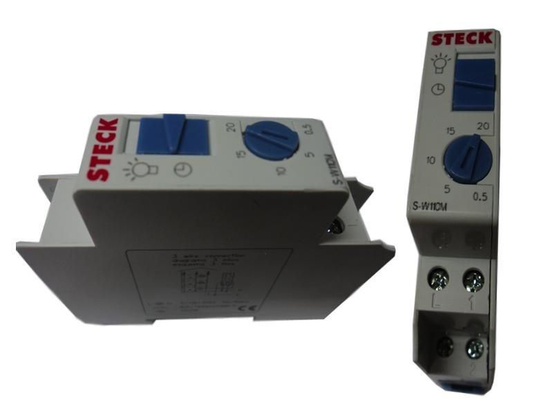 Minuteria Coletiva DIN 1200W 110V Steck SW 11OM