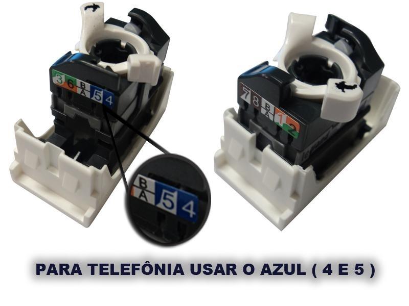 Módulo Tomada Rede Telefonia Rj45 Branca 615045 Pial Legrand