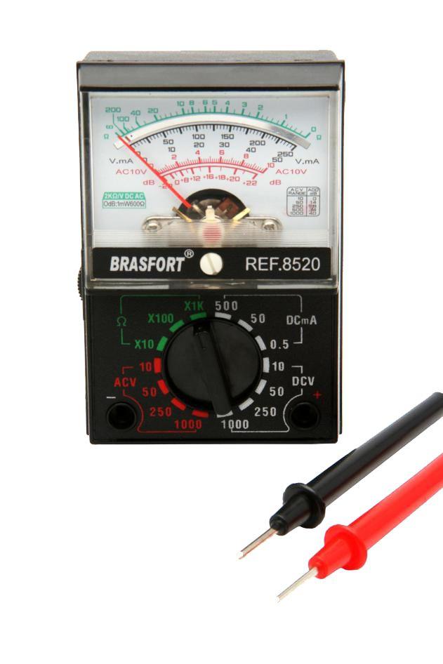 Multímetro Com Visor Analógico A Pilha Brasfort 8520