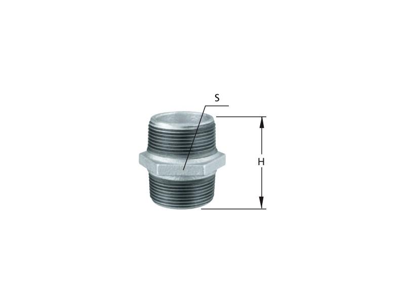 Niple Ferro Galvanizado 1,1/2 Tupy