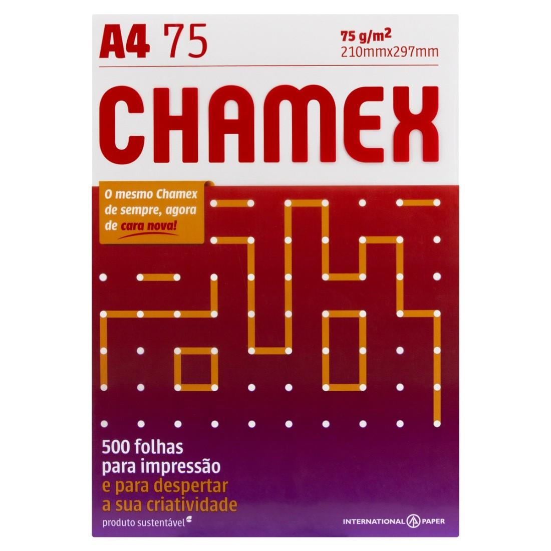 Pacote Sulfite Com 500 Folhas A4 210mm X 297mm Chamex