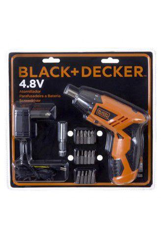 Parafusadeira À Bateria Black+decker 4,8v Bivolt Kc4815b